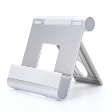 Universal Portable Phone Stand Holder Adjustable Aluminum Alloy Desk Mount Dock Bracket For iPad Pro Tablet / iPhone / Xiaomi