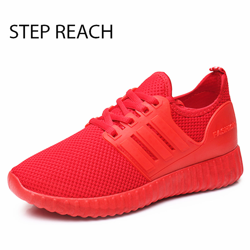 STEPREACH Brand shoes woman women casual shoes mesh air mesh lace-up rubber breathable round toe zapatos mujer tenis feminino new brand black white vintage women footwear lace up casual oxford flat shoes woman british style breathable zapatos mujer
