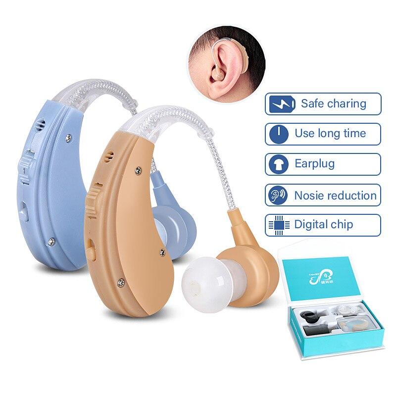 Cofoe BTE Apparecchi Acustici Sordo-aiuto Udienza Wireless Amplificatore Digitale Mini Hearing Aid Apparecchi per gli Anziani Disabilità