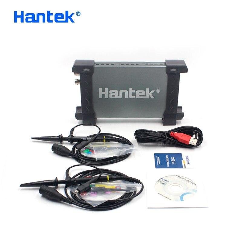Hantek oficial 6022be computador portátil usb armazenamento digital osciloscópio virtual 2 canais 20 mhz handheld portátil osciloscópio