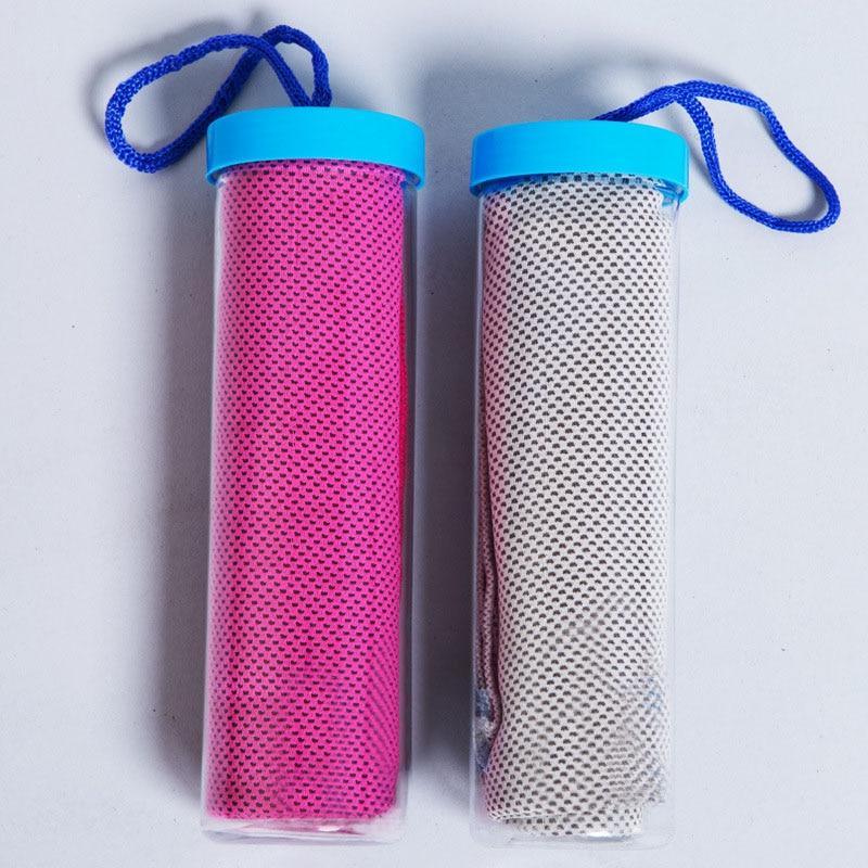 Sweat Towel Water Bottle: Fashion Sweat Summer Ice Cool Towel Creative Sport Cooling