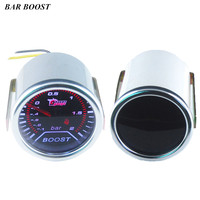 2 52mm Car Universal Pointer Bar Turbo Boost Gauge Meter Smoke Tint Len LED Free Shipping