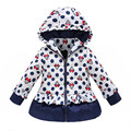 New 2017 Girls Winter Coat&Outwear,Kids Korean Minnie Cartoon Cotton Jacket&Coat,Baby Girls Full sleeve Jacket Free shipping