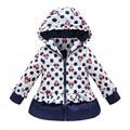 Nuevo 2017 Girls Winter Coat y Outwear, Niños Minnie de la Historieta de Corea Algodón Chaqueta y Abrigo, Niñas Bebés Completos Envío Libre de La Chaqueta de la manga