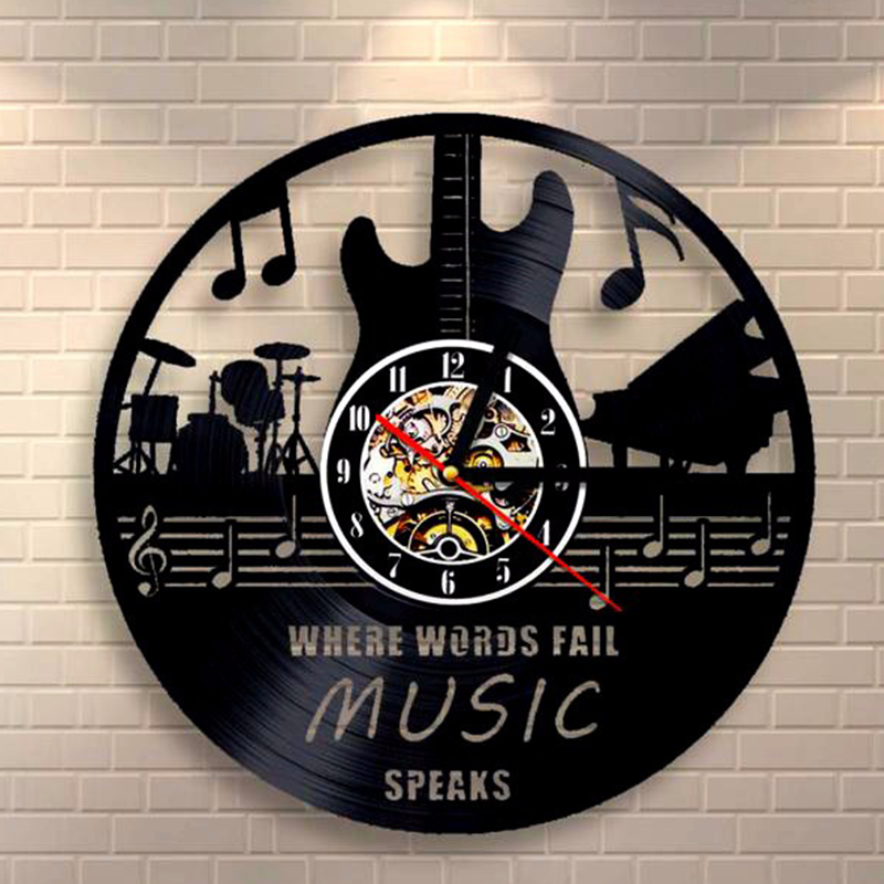Hot CD Vinyl Record Wall Clock Modern Design Musical Art Watch Clock Horloge Murale