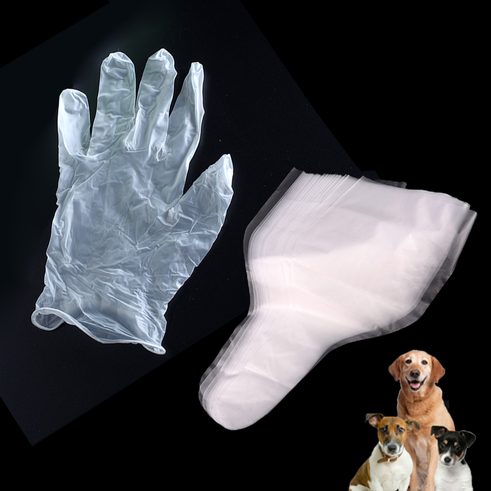 10PCS Professional Canine Semen Collection Bags Gloves Kit Dog Sperm Collect Artificial Insemination Clinic Lab Consumable Tools
