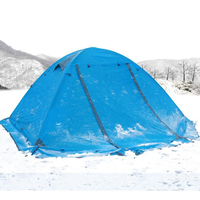 FLYTOP Beach Tourist 2 Person Tent Waterproof 210T Polyester Double Layer 4 Season Outdoor Hiking 3