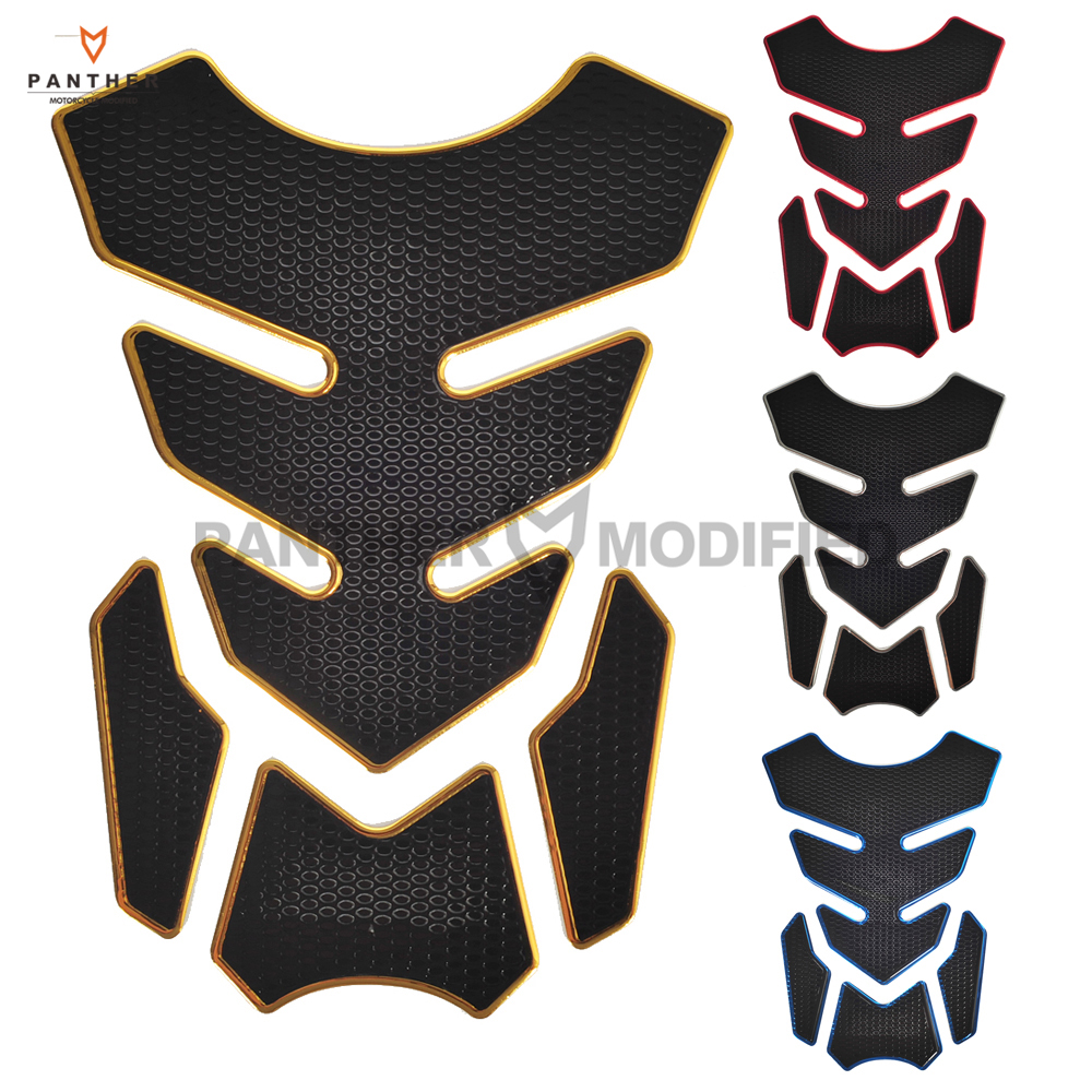 Motorcycle Decals Tank pad covers 3D Rubber Motorcycle Modified Decal Sticker Gas Oil Fuel Tank Pad Protector White