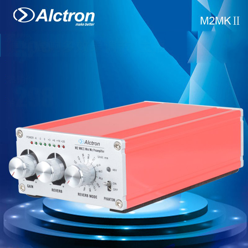 Alctron M2MK II Professional Mini Mic Preamplifier with 24 kinds of adjustable effect аксессуар moon mk ii