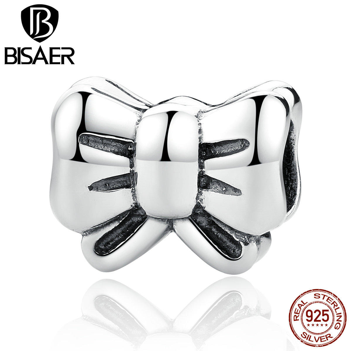 100% 925 Sterling Silver Bow Knot Lovely Beads Charms Fit Pandora Women  Bracelets & Necklace