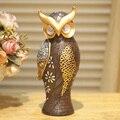 Artesanato criativo, ornamento, resina estátua de coruja da noite, Mobiliário doméstico, uma ave de Minerva, decoração, estatueta, figura, escultura