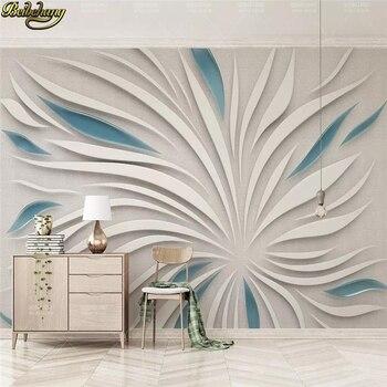 цена на beibehang Custom Abstract flower petals glass pattern stitching 3d flooring wallpaper TV background wall paper home improvement