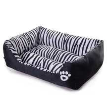 купить Pet dog beds Waterproof Black white striped 3 sizes beds for dog Puppy dogs soft sofas Dogs product supplies cama para cachorro недорого