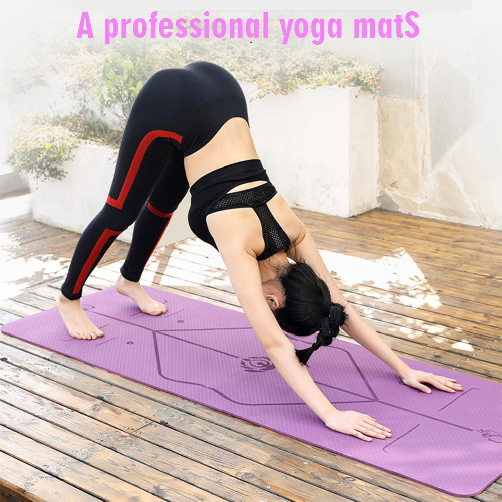HobbyLane 6mm Yoga couverture étirement anti-dérapant tapis de gymnastique pour le Sport Fitness exercice Pilates fournitures