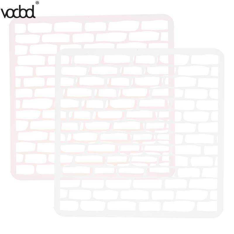VODOOL DIY Craft Grids Layering Plastic Stencils Scrapbooking Stamp Painting Stamps Album Decorative Embossing Paper Crafts cutiepie kinds of 0 9 numbers transparent clear stamps for scrapbooking diy silicone seals photo album embossing folder stencils