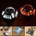 3.0 pulgadas Bi xenon Lente Del Proyector Faros Con LED DRL Lámpara de Señal de vuelta Switchback Faro Ángel Eyes el Kit Para El Coche Retrofit