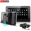 Junsun 7 inch Android Car GPS Navigation 16GB DVR Camcorder Rearview Camera with Radar Detector Lifetime Map Navigator