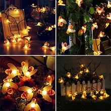 цена Honey Bee Shape Solar Powered 10M 50 LED Fairy String Lights For Outdoor Garden Fence Decoration Waterproof Tree Haning Light