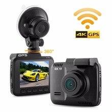 2 4 GS63H GPS Wifi Dash font b Camera b font 4K 1080P FULL HD Car