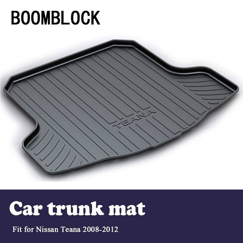 BOOMBLOCK Car Special Trunk Floor Foot Mat Pad Non-slip Dustproof Interior Accessories For Nissan Teana J32 2012 2011 2010-2008 image