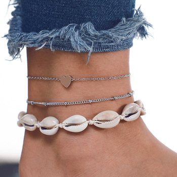 Vintage Boho Shell Jewelry Multilayer Shell Anklets For Women Bracelet Shell Leg Bracelet 2019 DIY Jewelry Accessories Wholesale 1