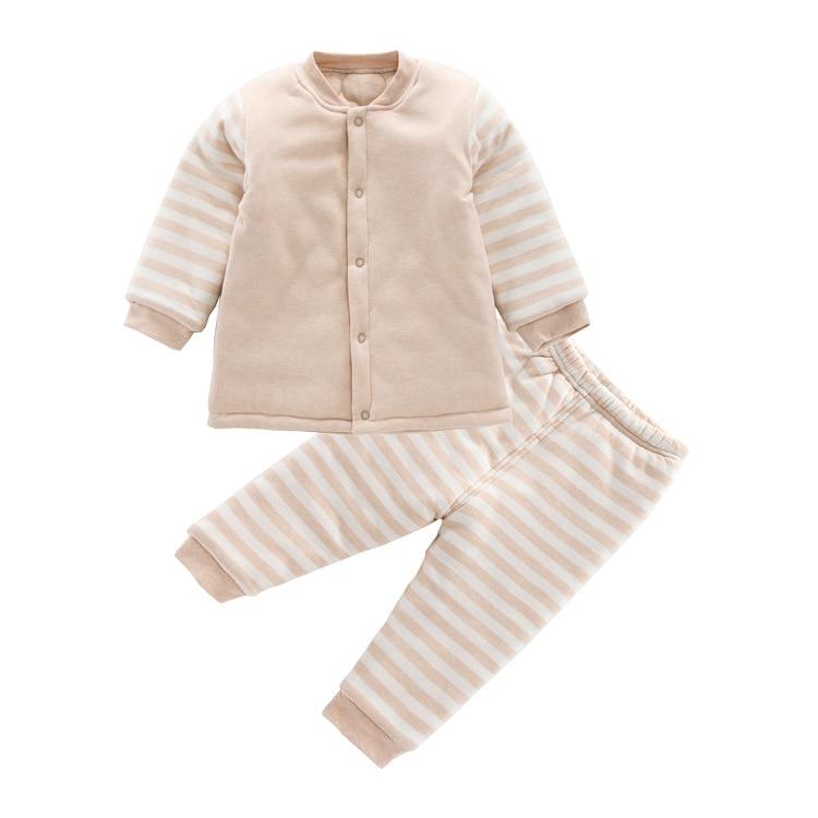 0-2Y coton bio couleur bébé ensemble nouveau-né bébé vêtements automne hiver vêtements bébé garçons filles coton manteau bébé vêtements