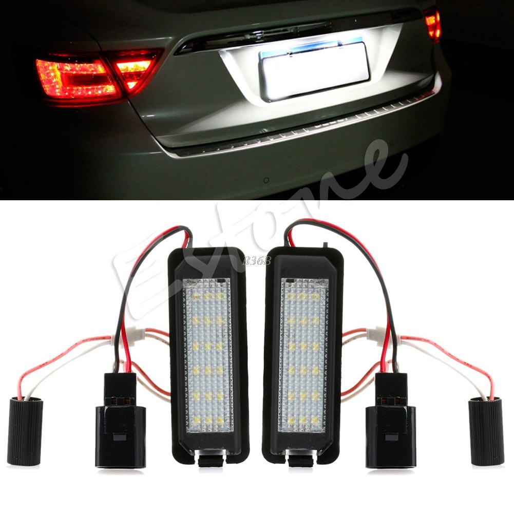 2x LED Number License Plate Light For VW GOLF MK4 MK5 MK6 PASSAT EOS ERROR FREE print bar кайло рен