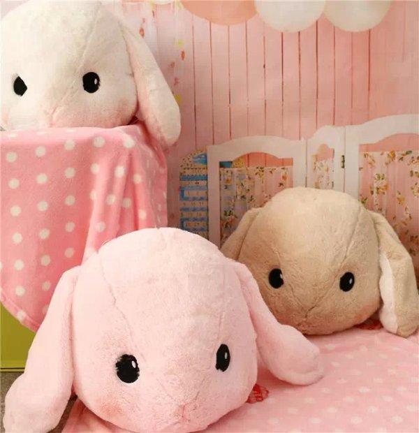 Candice guo! super cute plush toy big head Amuse Lolita Loppy rabbit long ear bunny stuffed cushion birthday gift 1pc super cute 1pc 33cm cartoon molang christmas wapiti rabbit bunny soft plush doll stuffed toy children valentine s day gift