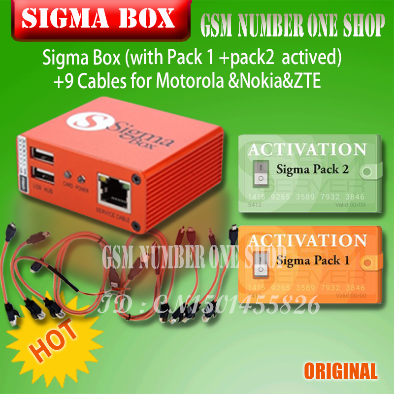 Image 2 - 2019 original Newest Sigma Box with Cable Set + Sigma Pack 1, 2, 3 Activations  for MTK based Motorola Alcatel Huawei ZTE Lenovo-in Phone Adapters & Converters from Cellphones & Telecommunications