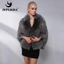 JEPLUDA Light luxury gorąca sprzedaż naturalny płaszcz z prawdziwego futra kobiet ubrania moda miękkie ciepłe prawdziwe futro z lisów futro kurtka zimowa kobiet tanie tanio CN (pochodzenie) Fox Fur Na co dzień Moda szczupła futro Osób w wieku 18-35 lat Skręcić w dół kołnierz Przycisk zadaszone