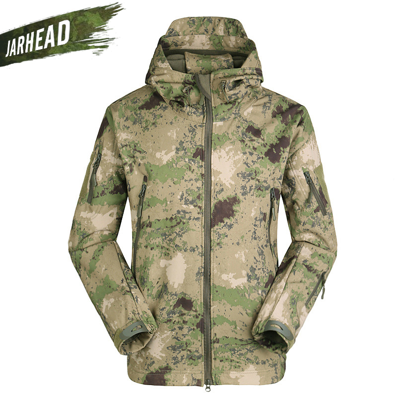 Outdoor Military Shark Skin Softshell Jacket Lurker Men Sports Coats Tactical Windproof Waterproof Camping Hunting Jackets lurker shark skin soft shell v4 military tactical jacket men waterproof windproof warm coat camouflage hooded camo army clothing