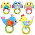 1 ШТ. Мягкие Плюшевые Милые Птицы Детские Погремушки Mobiles Hand Beaded Babies Toys Схватив Способность 0 + Подарок Горячая Продажа розничная