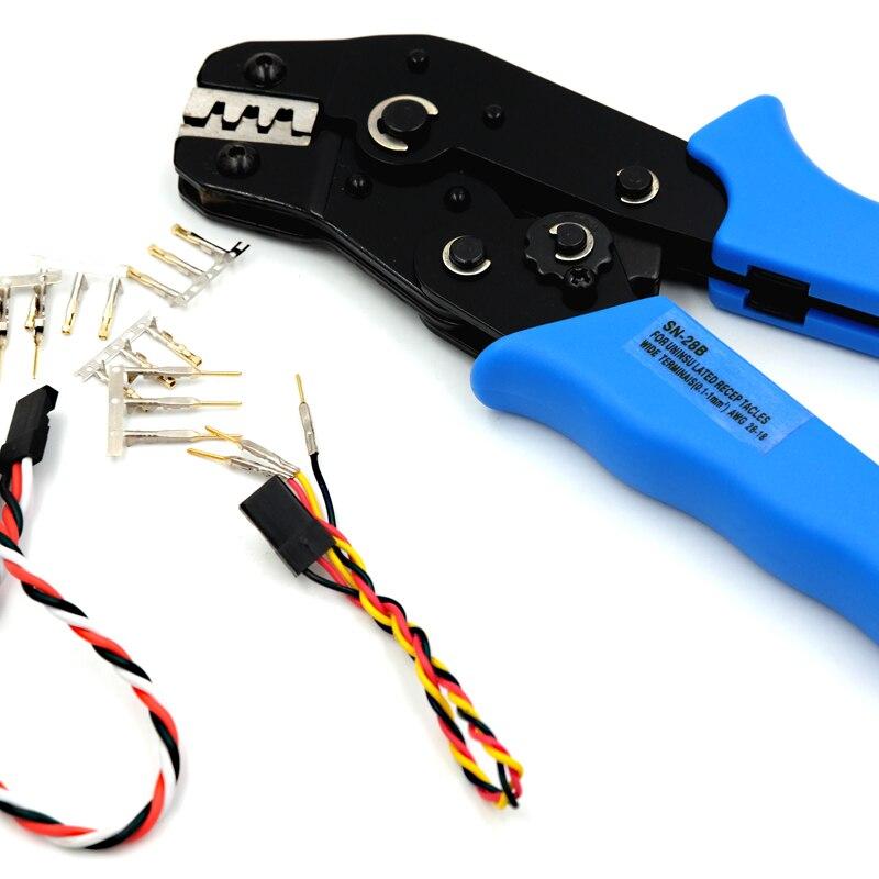 Herramienta prensadora de clavijas para conector Dupont 2,54mm 3,0 4,8mm, herramienta de engarzado de Servo conector