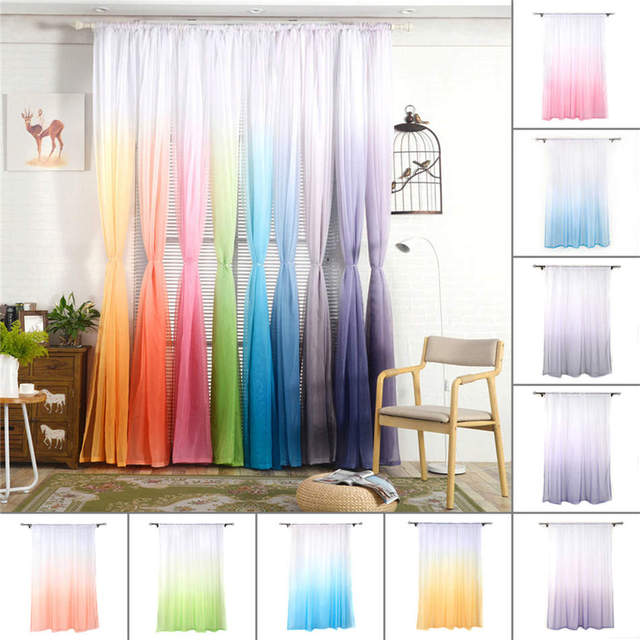 Hot Silk String Curtain Panels For Living Room Fly Screen Room