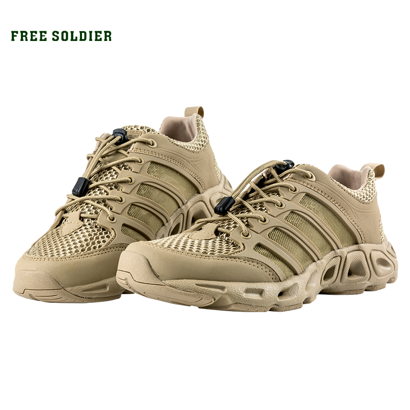 FREE SOLDIER Outdoor Sports Camping Shoes For Men Tactical Hiking Upstream Shoes For Summer Breathable Waterproof Coating(China)