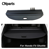 CNparts Car Rear Trunk Cargo Cover For Honda Fit Shuttle Car styling Black Security Shield Shade Auto Accessories