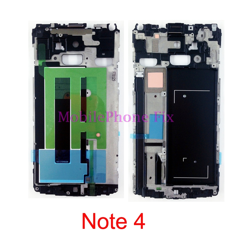 High Quality LCD Front Frame Bezel Housing For Samsung Galaxy Note 4 Note4 N910A/T N910F N910V Middle Inner Frame Repair Parts