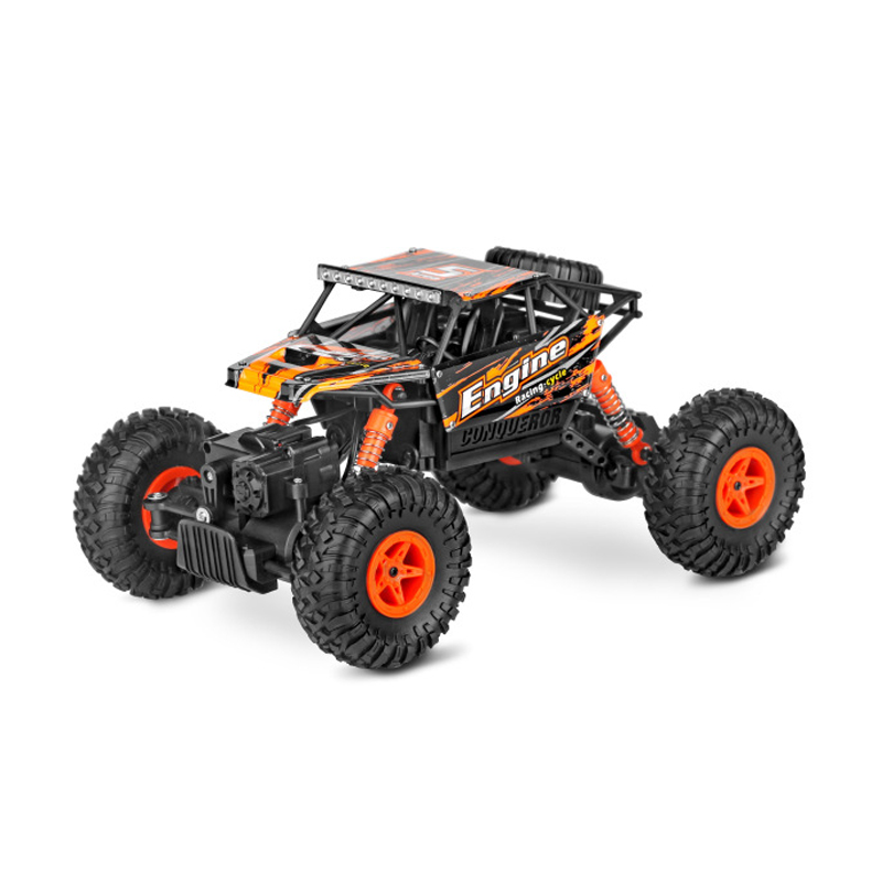 1:18 Scale High Speed Remote Control Off-Road Vehicle 10KM/h 4WD RC Climbing Car Model 2.4G HZ Electronic Toys Auto 1 18 scale red jeep wrangler willys alloy diecast model car off road vehicle model toys for children gifts collections