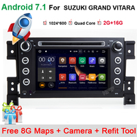 Two Din 7 Inch Car DVD Player For SUZUKI Grand Vitara 2005 With 3G Host GPS