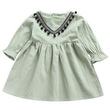 MUQGEW/платье для маленьких девочек; свободная одежда для маленьких детей; платья для девочек с рюшами и кисточками; летнее платье принцессы; одежда;