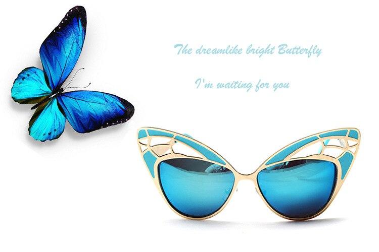 солнцезащитные очки металлические бабочки фото