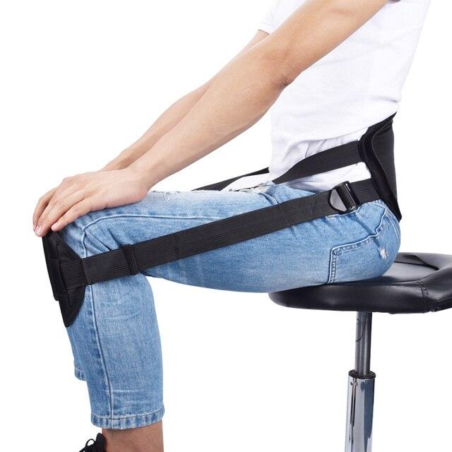 Adulto postura de sentado corrección cinturón clavícula cinturón de apoyo  mejor sentado columna tirantes apoya volver 3f77fddc133f