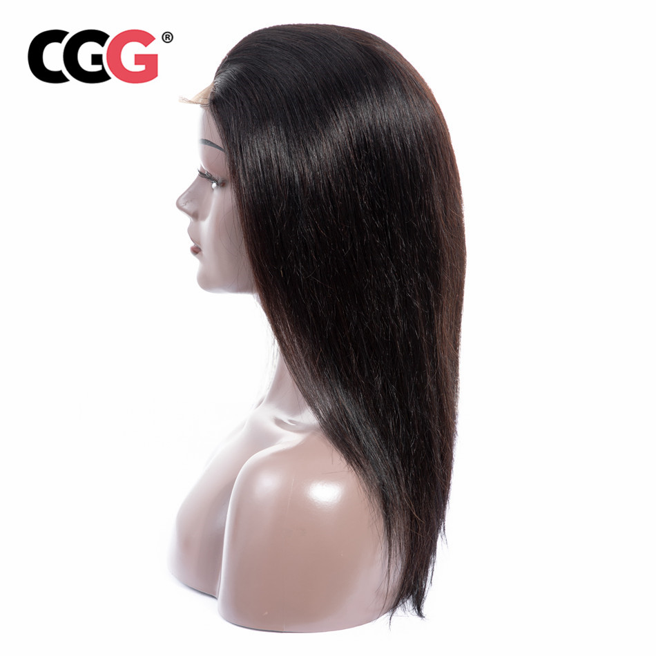 CGG Straight 4 4 Lace Frontal Human Hair Wigs Indian Non Remy Human Hair 8 22