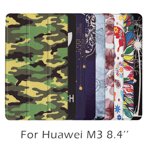 Free Shipping Painting Style PU Leather Case Cover for Huawei MediaPad M3 8.4'' (BTV-W09/BTV-DL09) Tablet High Quality