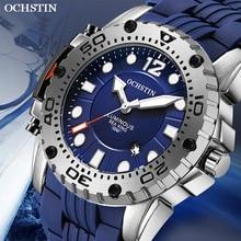 OCHSTIN 2019 Men New Fashion top brand luxury Sport Watch Quartz Waterproof Military Silicone Strap Wrist Watch Clock Relogio