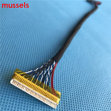 For LCD Controller Panel Double 8 bits Interface Wire FIX-D8 30pin LVDS Cable Free Shipping 3pieces / lot