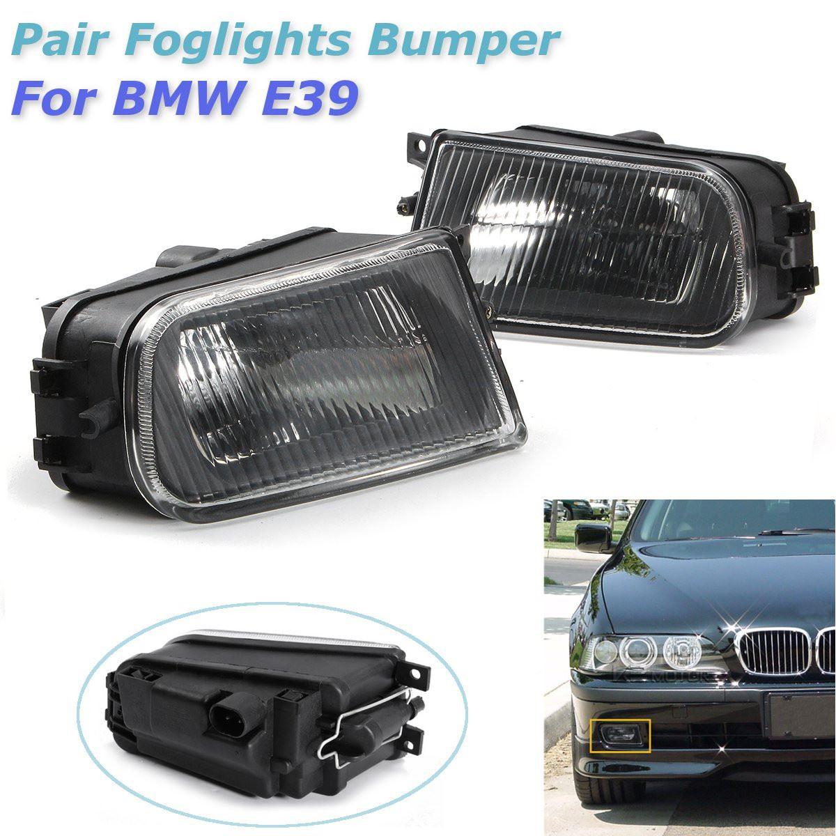 ФОТО 1 Pair Left/Right Black Fog Lights Bumper Lamp Housing for BMW E39 5-Series 97-00/ Z3 97-01 63178360575 63178381977 63178360576