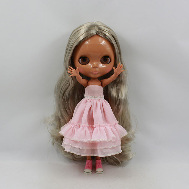 ICY Neo Blythe Doll Grey Golden Hair Jointed Body