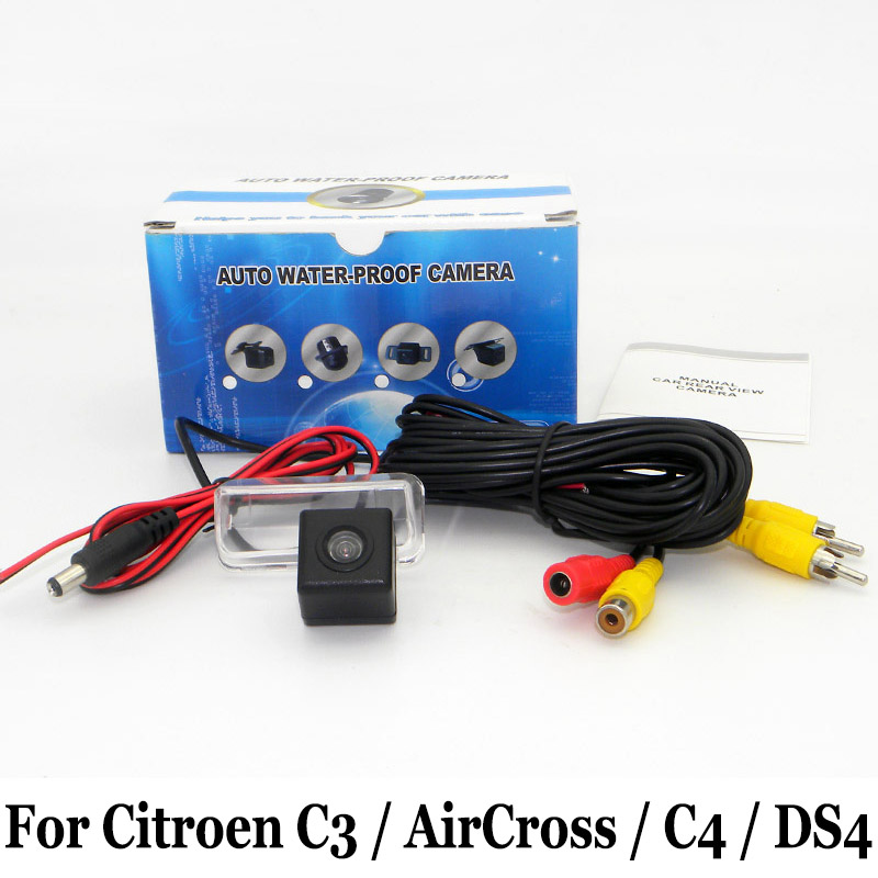 Wire Or Wireless Car Parking Camera For Citroen C3 Picasso / AirCross / C4 Picasso / DS 4 DS4 / RCA AUX HD Rear View Camera