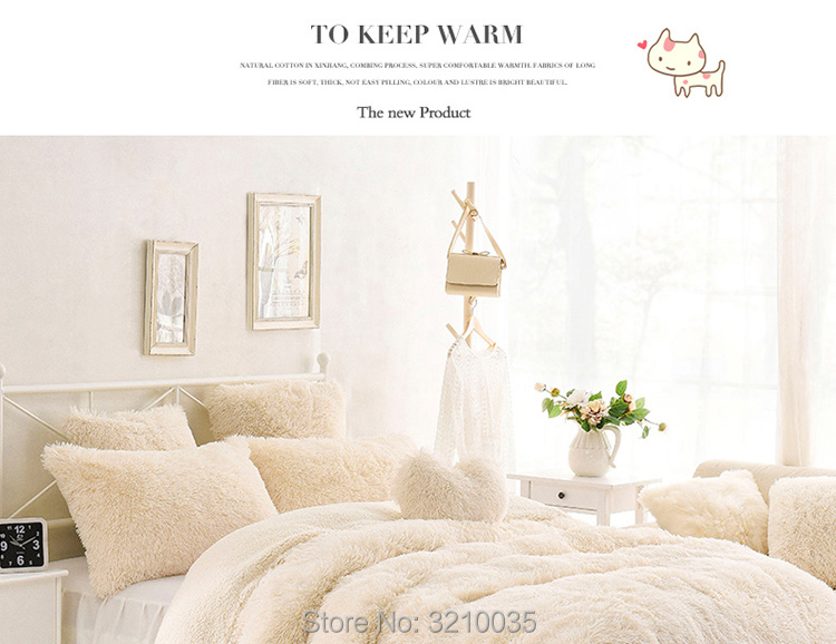 HTB1hdJsmTnI8KJjSszbq6z4KFXaj - Velvet Mink or Flannel 6 Piece Bed Set, For 5 Bed Sizes, Many Colors, Quality Material